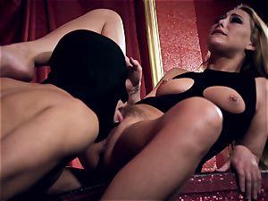 Carter Cruise sticks her fuck-fest slaves draped stiffy into her ass