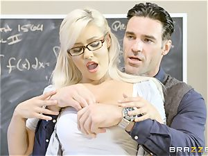 ultra-kinky student Kylie Page nails her lecturer