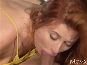 mommy killer bodacious Russian redhead gargles and boned