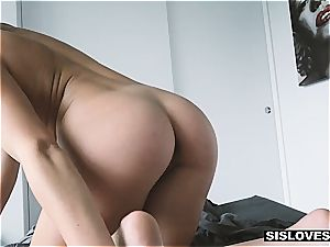 hot little sister tasting her step brother's jism