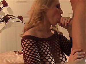 Devon Lee bopping the rock hard bishop of her playmate