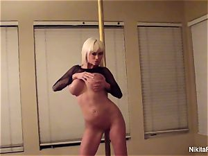 Nikita gives you a personal glamour dance & a point of view blow-job