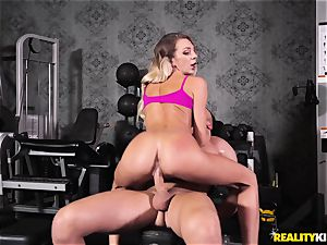 intimate trainer Tiffany Watson humped in the gym
