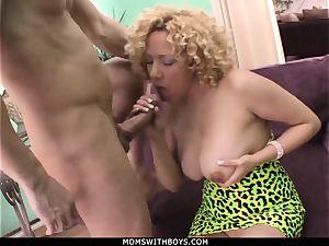 cougar Michelle stunner yam-sized jugged Get spunk Showered
