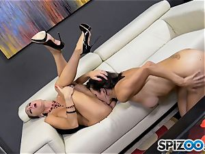 super-naughty minge gobbler Jessica Jaymes lets her tongue loose on Shay sights