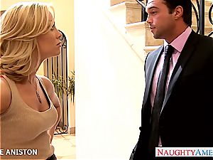 Golden haired sweetie Nicole Aniston ravaged well