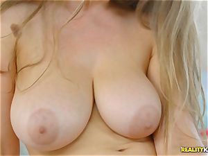 hot tribbing lesbo hook-up with Lena Paul and Alex Blake