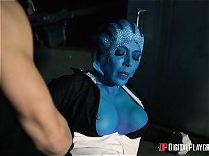 Space porno parody with red-hot alien Rachel Starr