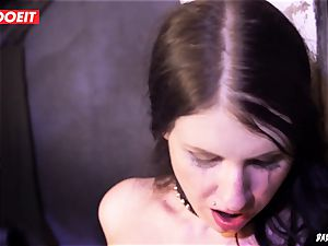 LETSDOEIT - dark haired Maid loves bondage & discipline tough torment