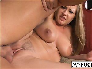 Avy Scott invites her man fucktoy over
