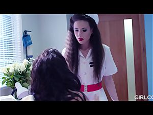 GIRLCORE lesbo Nurses Give teen Patient Vaginal examination