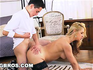 BANGBROS - milf Sarah Vandella plumbs Her college girl