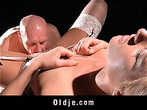 stunning hard-core youthfull bitch drill oldman with enjoy