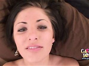 cock-squeezing girlfriend unwraps off garter to get superb hook-up