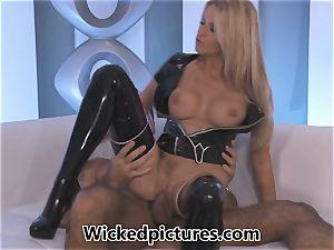 Jessica Drake sensationally humping in rubber