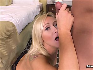 fresh light-haired cougar gets rectal pov