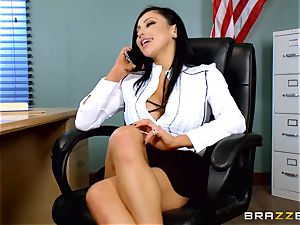 kinky schoolteacher Audrey Bitoni gets a pecker in detention