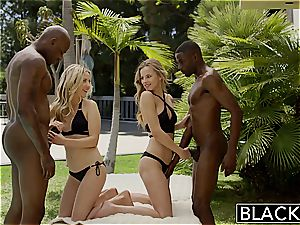 BLACKED very first interracial fourway for wonderful Blondes Karla Kush and Jillian Janson