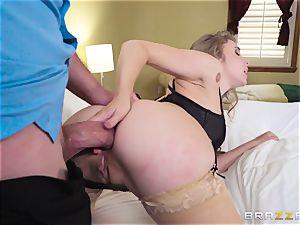sliding fuckpole and jism down the rump of Lena Paul