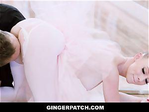 GingerPatch - sandy-haired Ballerina railing Judges massive trouser snake
