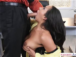 Office cockslut Priya Price with thick baps likes rock-hard chisels