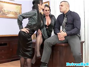 euro assfucking 3some with Anissa Kate