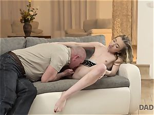 DADDY4K. fuckfest of father and youthful female ends with sudden creampie