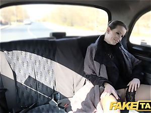 fake cab Czech dame hungers a rock hard wood