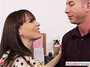 Darling Dana Dearmond looks handsome at the office