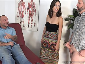 Jade Nile Has Her hubby suck shaft and see Her