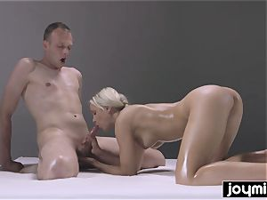 insatiable pulverizing nuru rubdown with blonde perfection