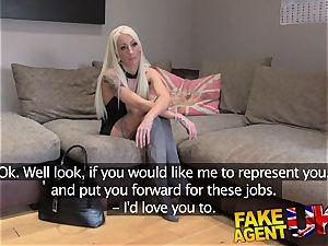 FakeAgentUK smallish blondie UK prostitute takes big large wood