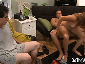 A Lamer watches His wifey Getting boinked by a dude