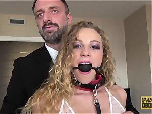 PASCALSSUBSLUTS - Angel Emily fellated with bondage & discipline man rod