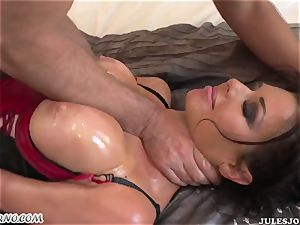 sex-positive rump milf Veronica Avluv gets her oiled arse pounded