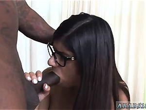 chum s step-sister money steal red head Mia Khalifa attempts A huge ebony dick